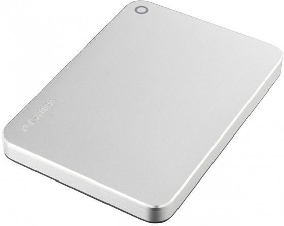 """купить Внешний жесткий диск 2.5"""" USB 3.0 1Tb Toshiba Canvio Premium серебристый HDTW210ES3AA по цене 4030 рублей"""