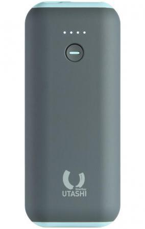 Внешний аккумулятор Power Bank 5000 мАч Smart Buy UTASHI A 5000 (SBPB-725) серый голубой