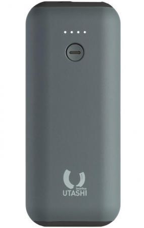 Внешний аккумулятор Power Bank 5000 мАч Smart Buy UTASHI A 5000 (SBPB-705) серый черный