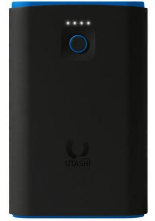 Внешний аккумулятор Power Bank 7500 мАч Smart Buy Utashi X 7500 черный голубой SBPB-610