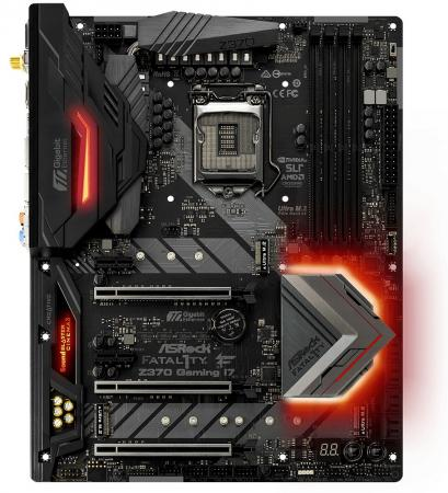 Материнская плата ASRock Z370 Professional Gaming i7 Socket 1151 v2 Z370 4xDDR4 3xPCI-E 16x 2xPCI-E 1x 6xSATAIII ATX Retail asrock h61m vs r2 0 original used desktop motherboard h61 socket lga 1155 i3 i5 i7 ddr3 16g usb2 0 micro atx
