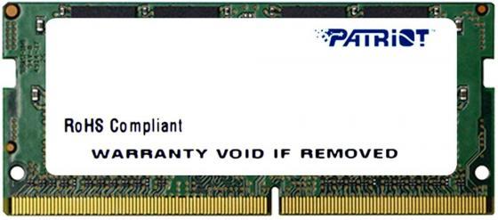 Оперативная память для ноутбуков SO-DDR4 8Gb PC4-17000 2133MHz DDR4 DIMM Patriot PSD48G213382S память ddr4 kingston kvr21r15s8k4 16 4х4gb dimm ecc reg pc4 17000 cl15 2133mhz