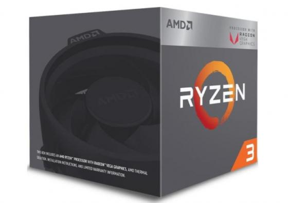 Процессор AMD Ryzen 3 2200G YD2200C5FBBOX Socket AM4 BOX процессор amd ryzen 7 1700x oem yd170xbcm88ae
