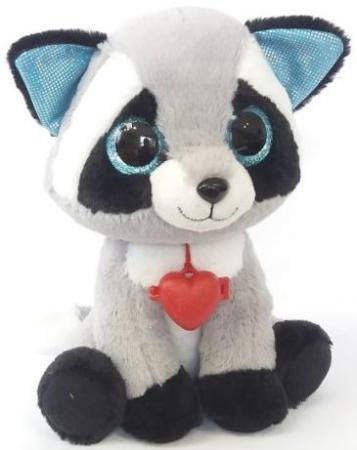 Мягкая игрушка Глазастик Енот мягкая игрушка собака фэнси глазастик собачка искусственный мех серый белый sbb0 s