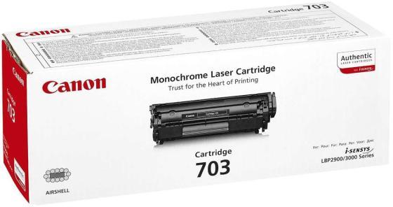 Картридж Canon 703 для LBP2900 LBP3000 2000стр картридж easyprint q2612a cartridge 703 для hp laserjet 1010 canon lbp2900 mf4018 черный 2000стр 12a fx 10 703
