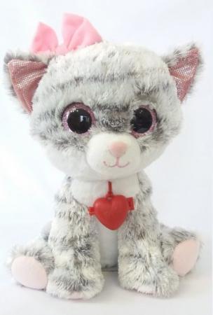 Мягкая игрушка Глазастик Кошечка