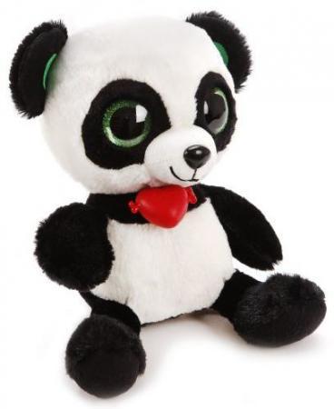Мягкая игрушка панда Фэнси Глазастик Панда черный белый искусственный мех GPA0\\S мягкая игрушка панда fluffy family крошка панда 30 см белый черный бежевый текстиль искусственный мех пластик 681241
