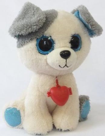 Мягкая игрушка собака Фэнси Глазастик Собачка серый белый искусственный мех SBB0\\S мягкая игрушка собака фэнси глазастик собачка искусственный мех серый белый sbb0 s