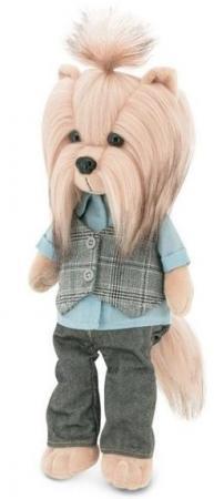 Мягкая игрушка собака ORANGE Йорк Andy Хипстер 25 см бежевый серый искусственный мех текстиль LD009 andy also