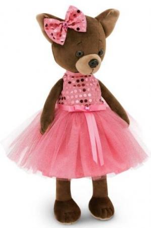 Мягкая игрушка собака ORANGE Чихуа Kiki Малиновый блеск 25 см розовый коричневый текстиль искусственный мех LD010 мягкая игрушка чихуа kiki зимняя сказка 25
