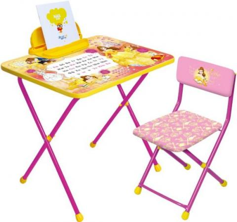 Набор мебели НИКА Disney 4-Белль 3 предмета Д4Б набор детской мебели ника disney д2у синий