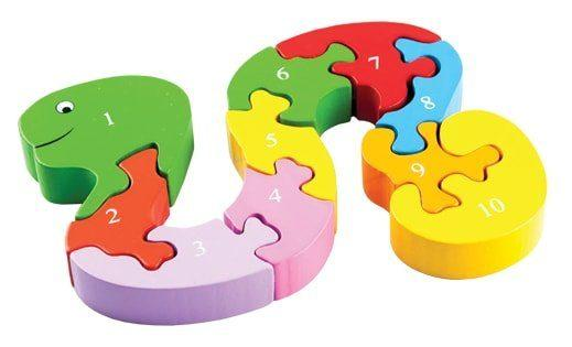 Пазл Змейка деревянные игрушки mapacha логическая игрушка змейка