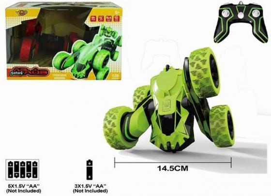 Машинка на радиоуправлении Наша Игрушка Машина зелёный от 6 лет пластик, металл M7375-2 инерционная машинка наша игрушка машина 1 34 цвет в ассортименте м6097110329