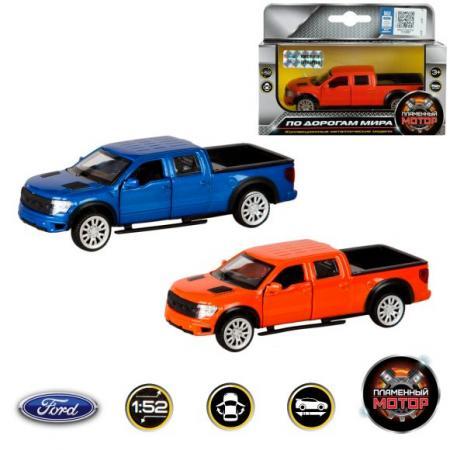 Машина мет. 1:52 Ford F-150 SVT Raptor, откр.двери, 12см монстр 1 12 электро savage xs flux ford svt raptor 2 4ghz влагозащита без акб и з у