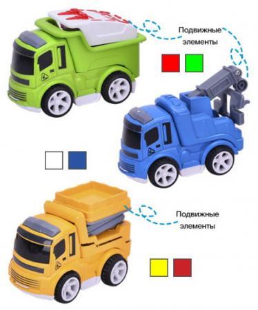 Инерционная машинка Shantou Gepai Спецтранспорт 0783-56 разноцветный в ассортименте пламенный мотор машинка инерционная volvo пожарная охрана