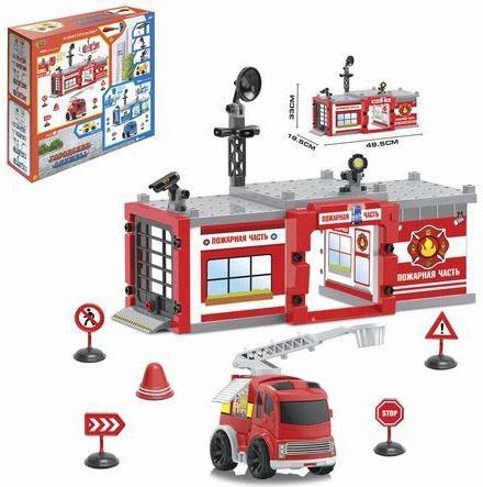 Игровой набор Наша Игрушка Пожарная часть разноцветный M7140 игрушка
