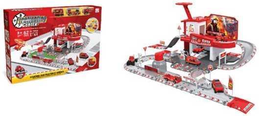 Машина Наша Игрушка Пожарная станция красный TH8549 пожарная станция наша игрушка пожарная станция с дорогой красный 2 шт 5599 26a