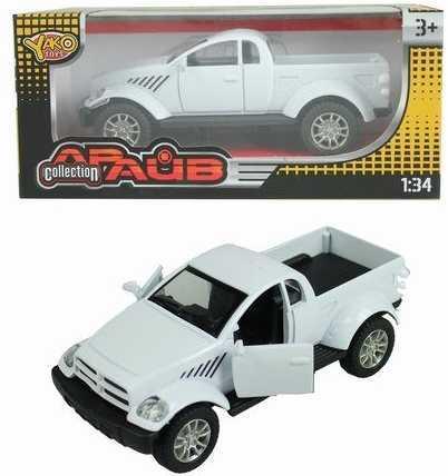 Инерционная машинка Наша Игрушка Машина металлическая 1:34 белый M6943 игрушка
