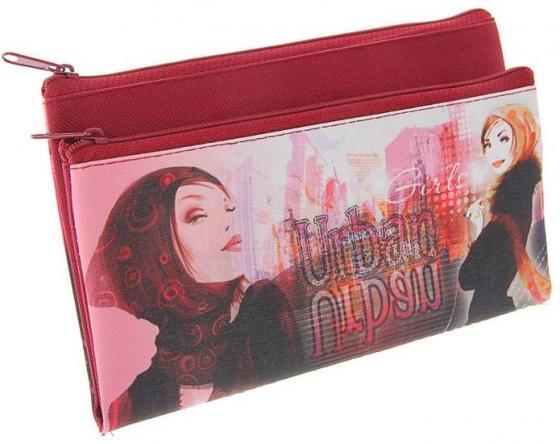 Пенал-кошелёк URBAN GIRL,ткань, дизайн 200х130 мм