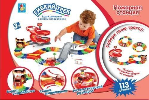 Набор 1 toy Пожарная станция разноцветный Т59308 набор пожарная станция с машинкой dave toy