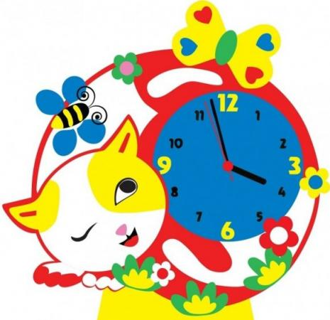 Набор для творчества Часы Котик набор для творчества тм vladi раскраски глиттером котик
