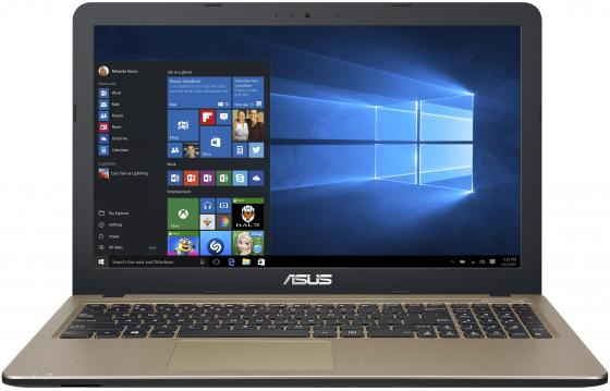 "Ноутбук ASUS X540NV-DM027T 15.6"" 1920x1080 Intel Pentium-N4200 1 Tb 4Gb nVidia GeForce GT 920MX 2048 Мб черный Windows 10 Home 90NB0HM1-M00600 ноутбук asus x751nv intel pentium n4200 1100 mhz 17 3"