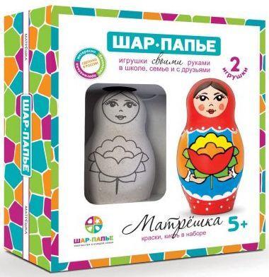 Набор для творчества Матрешка шар папье шар папье набор для творчества зайчик