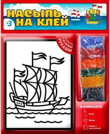 Набор для творчества Насыпь На Клей Кораблик наборы для творчества татой набор для творчества насыпь на клей белочка