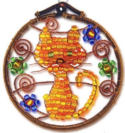 Набор для творчества Клевер Фигурка из бисера Кошечка АА 07-213 набор для творчества клевер набор для изготовления цветка из бисера алая роза