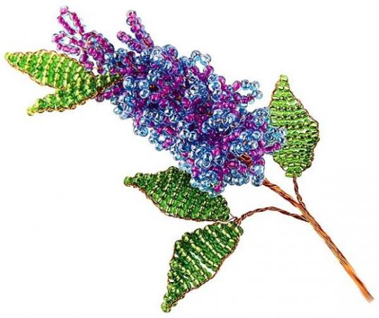 Набор для творчества Клевер Цветы из бисера Майская сирень АА 05-603