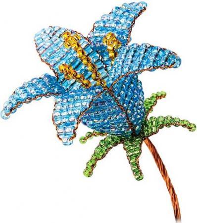 Набор для творчества Клевер Цветы из бисера Голубой колокольчик АА 05-607