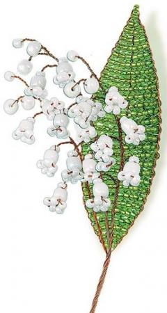 Набор для творчества Клевер Цветы из бисера Нежный ландыш АА 05-608 семена клевер белый клондайк 150г
