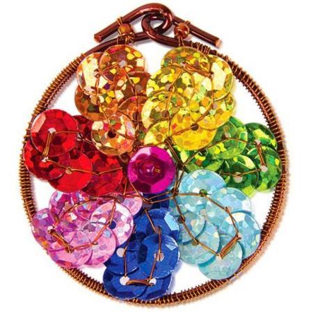 Набор для творчества Клевер Плетение кулона из бисера Волшебный цветок АА 07-217 certina c030 217 37 037 00