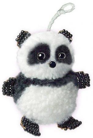 Набор для творчества Клевер Фигурка из бисера Маленькая панда АА 09-201 набор для творчества клевер плетение кулона из бисера дивный павлин аа 07 215