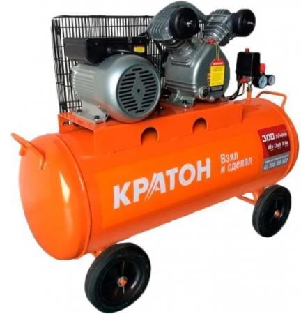 Компрессор КРАТОН AC-300-50-BDV 1500Вт 10бар 300л/мин 50кг ременной масляный компрессор масляный