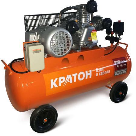 Компрессор КРАТОН AC-630-110-BDW 3000Вт 630л/мин 10бар 104кг ременной масляный