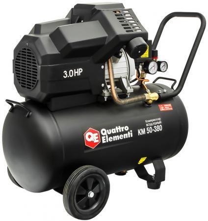 Компрессор Quattro Elementi KM 50-380 2.2кВт масляный поршневой компрессор quattro elementi vento 50 770 254