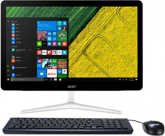 """Моноблок Acer Aspire Z24-880 23.8"""" Full HD i5 7400T (2.4)/4Gb/1Tb 5.4k/GF940MX 2Gb/DVDRW/CR/Windows 10/GbitEth/WiFi/BT/135W/клавиатура/мышь/Cam/серебристый 1920x1080 моноблок acer aspire z1 623 21 5 full hd i3 5005u 2 4gb 1tb hdg5500 dvdrw cr windows 10 home single language eth wifi bt spk клавиатура мышь cam черный 1920x1080"""