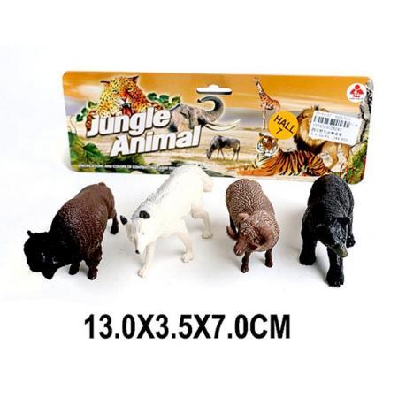 Набор фигурок Наша Игрушка Дикие животные 2A247 игрушка