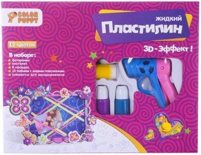 Набор для декорирования фоторамки с жидким пластилином, 12 цветов, пистолет набор для создания фоторамки с декором часовой механизм folia 23336
