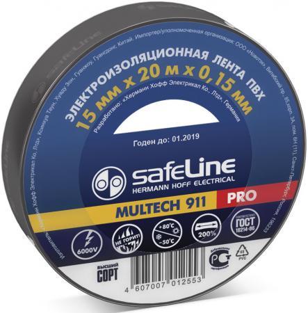 Изолента SAFELINE 15/20 черная форма для изготовления чебуреков мультидом vl80 220 в ассортименте