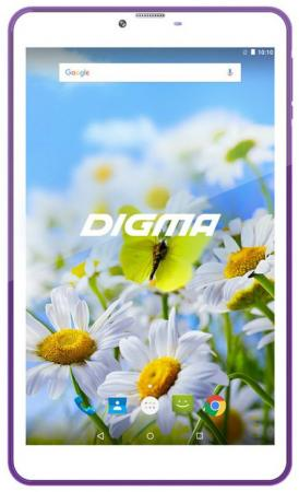 Фото Планшет Digma Plane 7539E 4G 7 16Gb White Violet Wi-Fi Bluetooth 3G LTE Android PS7155ML сотовый телефон digma linx a177 2g