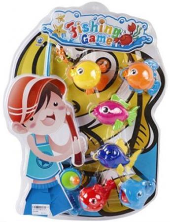 Интерактивная игрушка Наша Игрушка Рыбалка с крючком удочка от 3 лет BW30035-2 игрушка