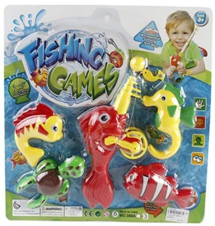 Интерактивная игрушка Наша Игрушка Рыбалка магнитная удочка от 3 лет 388A-3 игрушка