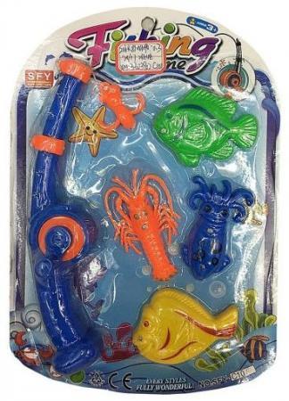 Интерактивная игрушка Наша Игрушка Рыбалка магнитная удочка от 3 лет 635536 удочка