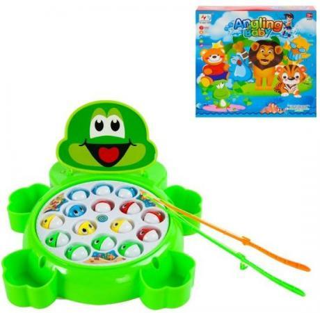 Интерактивная игрушка Наша Игрушка Рыбалка эл. Лягушонок от 3 лет зелёный 9981-15A интерактивная игрушка ar gun yz618