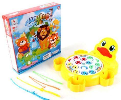 Интерактивная игрушка Наша Игрушка Рыбалка эл. Утенок от 3 лет жёлтый 9981-17A интерактивная игрушка наша игрушка рыбалка черепашка от 3 лет tnwx 1429