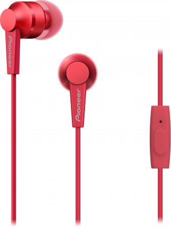 Наушники Pioneer SE-C3T-R красный наушники pioneer se ms5t r красный