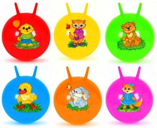 Мяч-попрыгун Наша Игрушка Мяч-попрыгунчик пластик от 3 лет разноцветный 63795 stantoma игрушка попрыгун мяч с рогами цвет красный 55 см