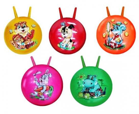 Мяч-попрыгун Наша Игрушка Мяч латексный 50см латекс от 3 лет разноцветный 63741 цена